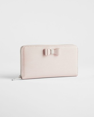 Ted Baker Leather Zip Around Bow Purse