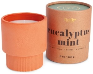 Paddywax Firefly Eucalyptus Mint Scented Terracotta Ceramic Candle