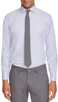 Eleventy Microprint Slim Fit Button Down Shirt