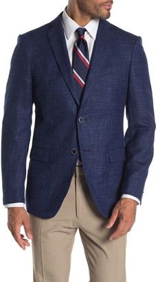 John Varvatos Baxter Notch Collar Wool & Linen Suit Separate Sportcoat