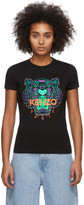 Kenzo Black Limited Edition Holiday Tiger T-Shirt