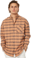 Zanerobe Flanno Rugger Ls Mens Shirt Orange