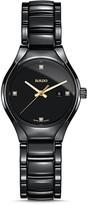 Rado True Quartz High-Tech Ceramic Watch with Diamonds, 30mm