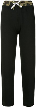 A Bathing Ape Cropped Ribbed Trousers