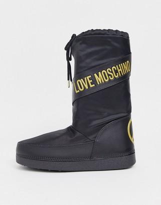 Love Moschino snow boots-Black