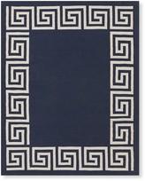 Greek Key Border Indoor/Outdoor Rug, Navy