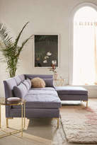 Urban Outfitters Cecilia Velvet Sectional Sofa