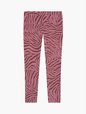 Mint Velvet Mintie by Girls' Zebra Print Leggings, Pink