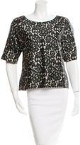 Michael Kors Short Sleeve Lace Print Top