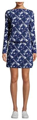 Nicole Miller Shibori Pinwheel Rayon Blouson Dress (Shibori Pinwheel) Women's Dress