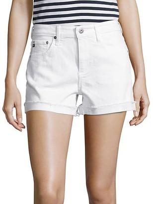 AG Jeans Hailey Mid-Rise Slouchy Cuffed Denim Shorts