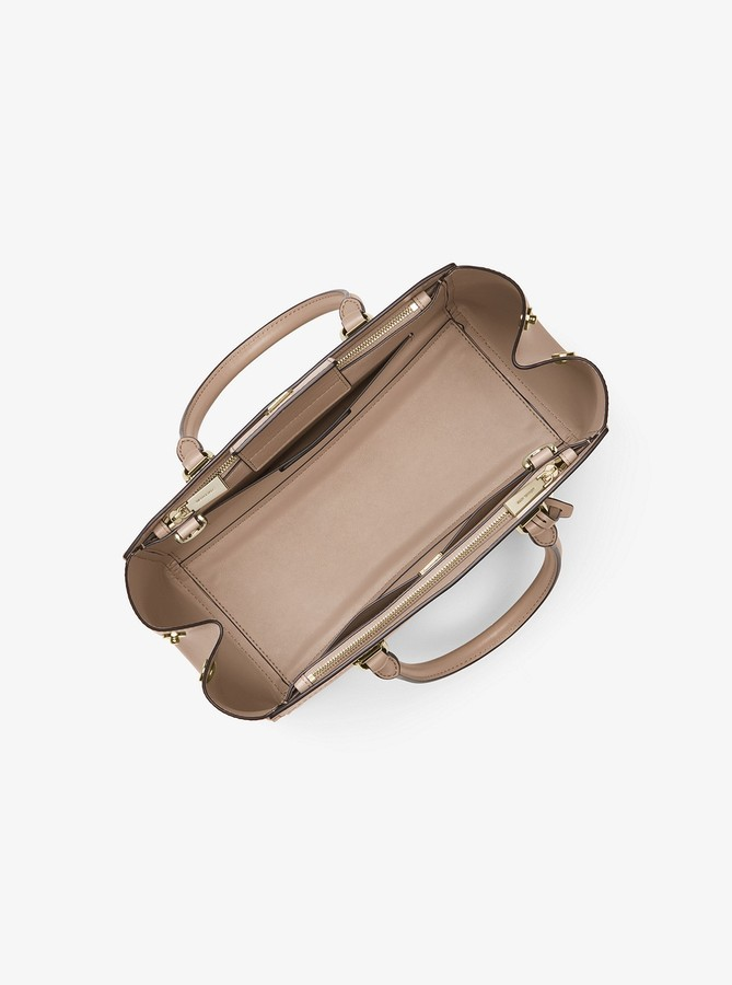 Thumbnail for your product : MICHAEL Michael Kors Benning Large Leather Satchel