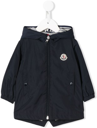 Moncler Enfant Logo Patch Hooded Jacket