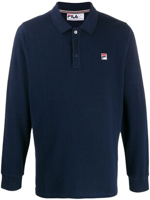 Fila Bertoni logo embroidered polo shirt