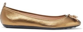 Tod's Knotted Metallic Leather Ballet Flats