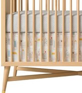 DwellStudio Dwell Studio Crib Skirt, Skyline Light Blue (Discontinued by Manufacturer)