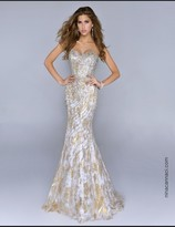 Nina Canacci - 9000 Dress in Gold