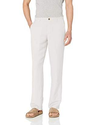 Amazon Essentials Classic-fit Flat-front Linen Pant Casual,Small
