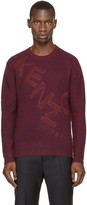 Kenzo Burgundy & Navy Knit Logo Sweater