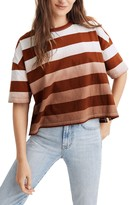 Madewell Groton Stripe Dip Dye Oversize T-Shirt