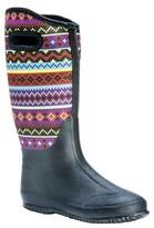 Muk Luks Women's Karen Aztec Print Rain Boots