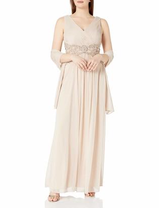 Xscape Evenings Women's Chiffon V-Front Dress