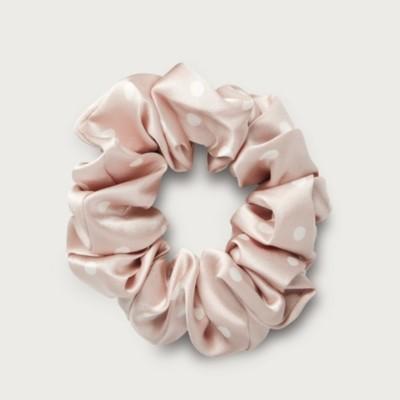 Silk Sleep Scrunchies Set of 2, Vintage Pink, One Size