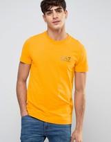 Emporio Armani Ea7 T-shirt Chest Logo Regular Fit In Orange