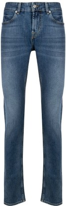 7 For All Mankind Mid Rise Straight Leg Jeans