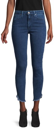 Joe's Jeans High-Rise Honey Dolphin-Hem Curvy Skinny Ankle Jeans