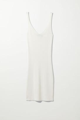 Weekday Jenny Knitted Dress - White