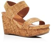 Gentle Souls Juniper Berry Cork Platform Wedge Sandals