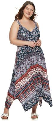 American Rag Juniors' Plus Size Handkerchief Dress