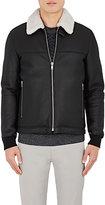 Theory Men's Dobbis. Essence Leather Jacket-BLACK