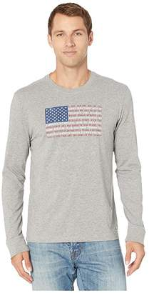 Life is Good Star Spangled Banner Flag Long Sleeve Crusher Tee