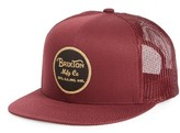 Brixton Men's Wheeler Mesh Snapback Cap - Red