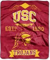 Northwest Company Usc Trojans Raschel Rebel Throw Blanket
