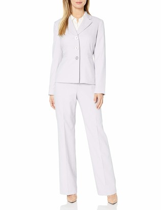 Le Suit LeSuit Women's Melange Herringbone 3 Bttn Notch Lapel Pant