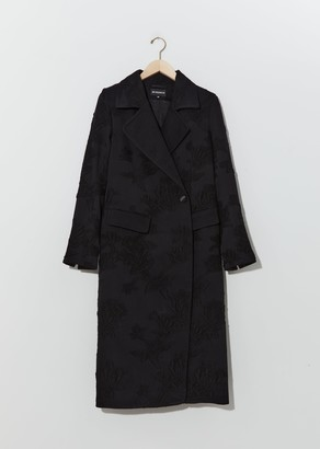 Ann Demeulemeester Wool & Cotton Embroidered Coat