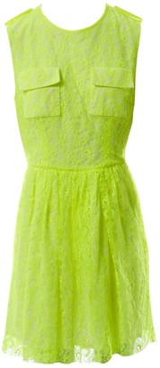 MSGM Yellow Lace Dress for Women