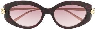Cartier Panthere de oval-frame sunglasses