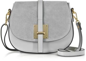 Pollia Leather and Suede Shoulder Bag