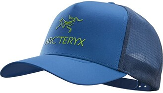 Arc'teryx Logo Trucker Hat (Cobalt Sun) Caps