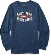 Ralph Lauren Cotton Graphic Long-Sleeve Tee