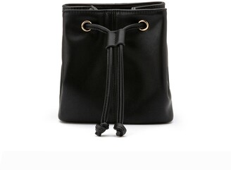 La Redoute Collections Faux Leather Drawstring Belt Bag
