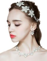 Missgrace Missgace Bridal Crystal Wedding Headband -Long Bridal Hair Vine