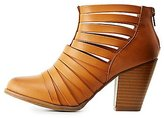 Charlotte Russe Strappy Ankle Booties