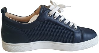 Christian Louboutin Navy Leather Trainers