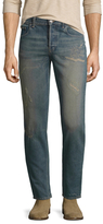Gucci Cotton Whiskered Slim Fit Jeans