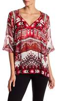 Hale Bob Long Sleeve Silk Tunic